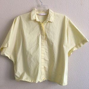 Zara Yellow Button-up Top